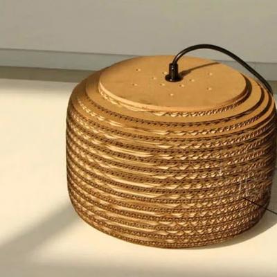 Bold Design And Natural CorrugatedPaper Designer Large Pendant Lighting