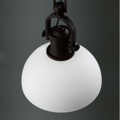 Bowl Frosted Glass Shaded Industrial One-light LED Mini Pendant