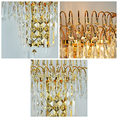 Bring Designer Style and Chic Lighting to Your Decor with Gorgeous Clear Crystal Wall Sconce