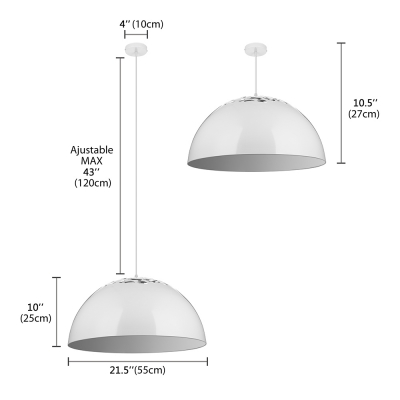 """Carving Beautiful Dome Large Charming Designer Lighting 20.3""""Wide"""