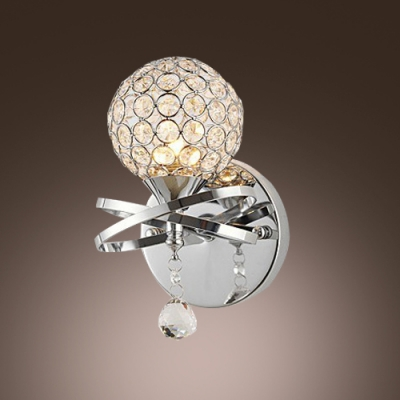 Contemporary Globe Design Add Charm to Stunning Crystal Wall Sconce