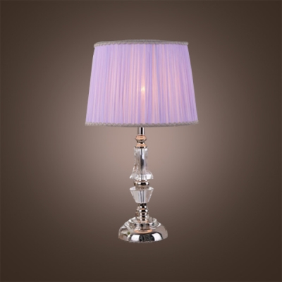 Merveilleux Eye Catching Crystal Table Lamp Featuring Faceted Crystal And Light Purple  Shade ...