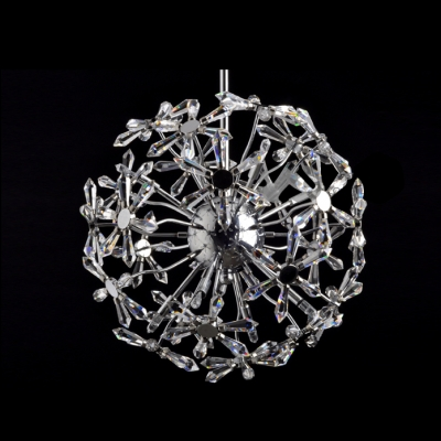 Futuristic Large Modern Chandelier with Beautiful Crystal Sunflower Cluster Design Makes Stunning Style Statement