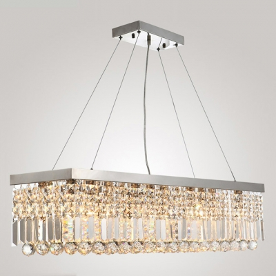 Gorgeous Glamour and Geometric Discipline Meet Stunning Crystal Pendant Chandelier