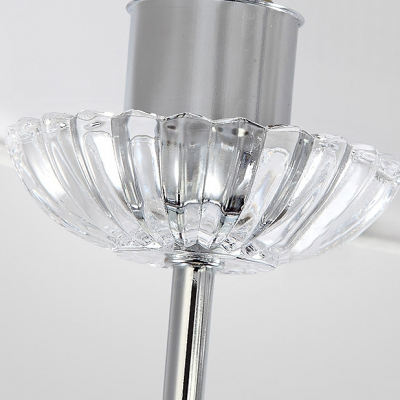 Hanging Stunning Clear Crystal Balls 4-Light  Chandelier Ceiling Lights