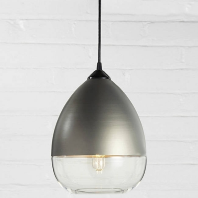 Industrial Champagne Socket Teardrop Shade Colored Pendant Light