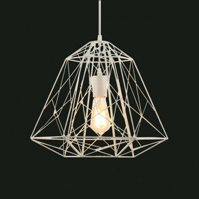 Industrial One-light Cage  Pendant with Reel Iorn Outshape
