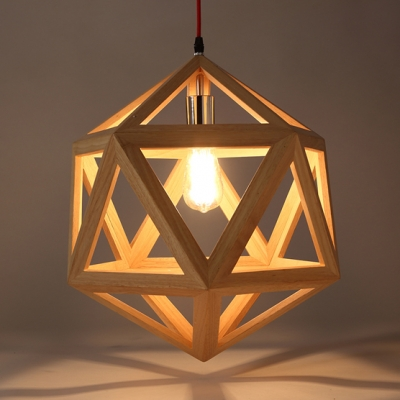 ... Natural Style Cage Designer Large Pendant Light In 15.7u201d Wide With Red Cord & Natural Style Cage Designer Large Pendant Light In 15.7u201d Wide With ...
