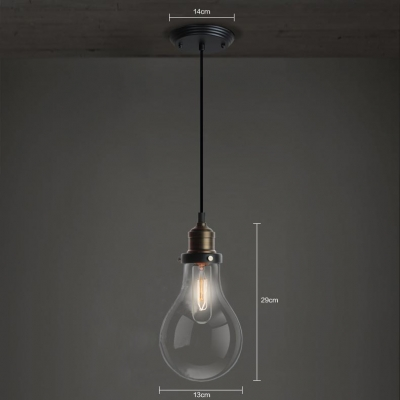 Edison 6 Light LED Pendant Light in Bronze