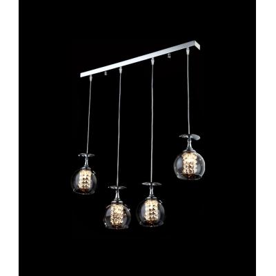 Sparkling and Elegant Bar Base Four Globes Multi-light Pendent Lighting Fixture
