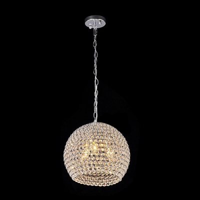 Stunning Large Pendant Features Gleaming Metal Frame Adorned with Sparkling Crystal Beads