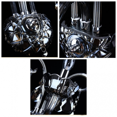 Stunning Single Light Wall Sconce  with Grand Iron Scrolling Arms and Graceful Crystal Accents