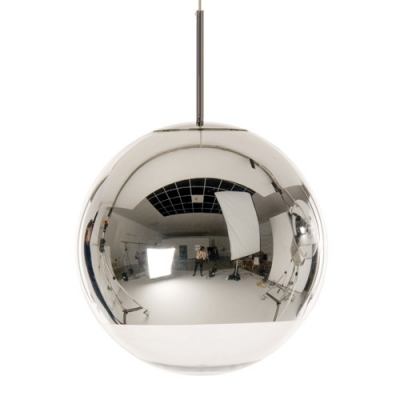 "Mirror Surface And Round Ball Shaped Designer Large Pendant 15.7""Wide"