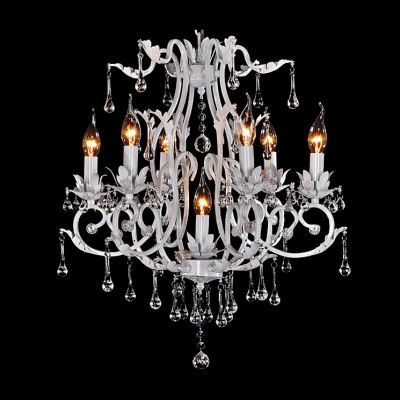 196 wide 216 high white romantic wrought iron crystal drops 196 aloadofball Gallery