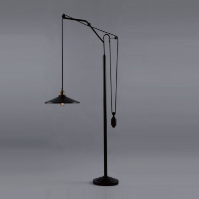 Industrial Style Oiled Rubbed Bronze Farmhouse Single-Light Floor Lamp