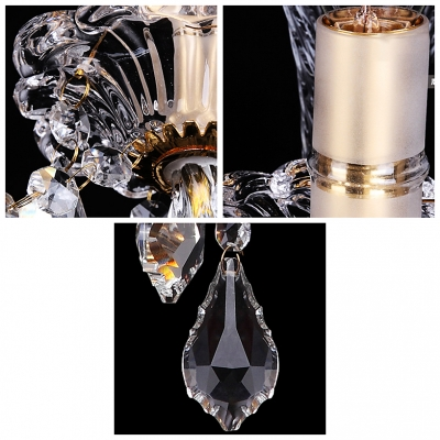 Beautiful Vase Design Crystal Wall Light Fixture Offers an Elegance Embelishment