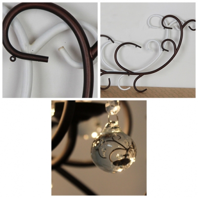 Classic Exquisite Strolling Wrought Iron Candelabra Style Wall Light Fixture