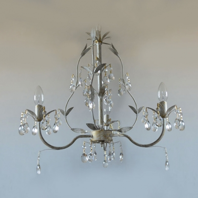 Dazzle Your Guests with Splendid Wrought Iron Crystal Chandelier