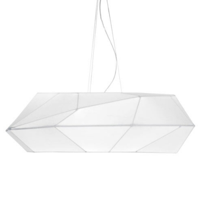 Designer Lighting Diamond Pendant Light In All White