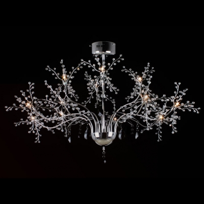 Finely Designer Crystal Balls and Metal Branches Whimsical 23.6