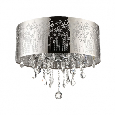 Fashion style close to ceiling lights crystal lights beautifulhalo functional and beautiful swirling cutout motif metal dum shade flush mount ceiling light aloadofball Choice Image