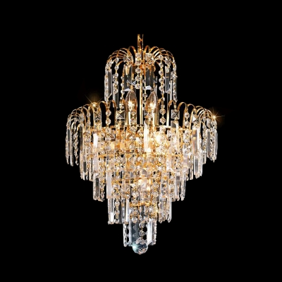 Baycheer / Grand Ceiling Fixture Offer Plenty of Sparkle with Gold Finish Frame and Gleaming Crystals