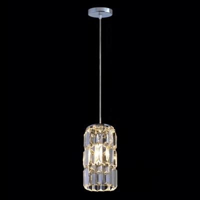 Hand-cut Clear Crystal Column Design Pendant Light Creating Welcomed Addition to Your Decor