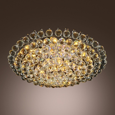 Luxurious All Small Clear Crystal Globes 4 Light 15 7