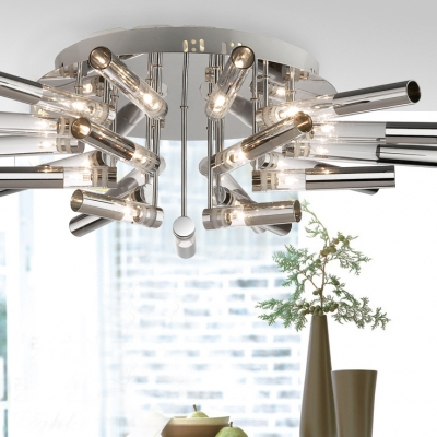 Medium LED Bar Flower Blooming Shaped Modern  Close to Ceiling Light