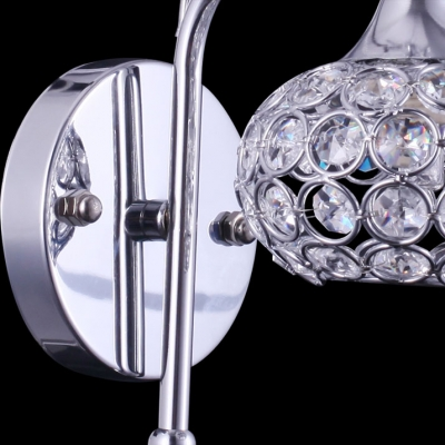 Refined Single Light Down Lighting Wall Light Completed with Sphere Shade Mounted Beautiful Crystal Beads for Modern Bedroom