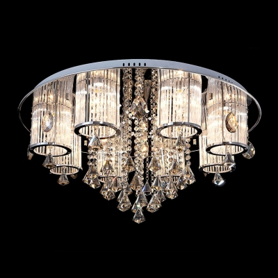 "Image of ""11.8""""High Functional and Beautiful Rounded Flush Mount Hanging Crystal Balls"""