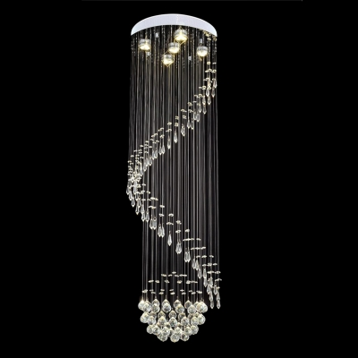 Fashion Style Spiral Chandeliers Crystal Lights Beautifulhalocom - Long chandelier crystals