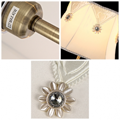 Bright and Gleaming Table Lamp Look with Beautiful Crystal Details and Gold Finish Base