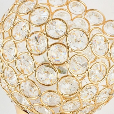 Brilliant Look of Crystal Sconce with Metal Frame and Clear Crystal Beads