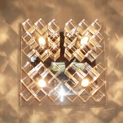 Dazzling transparent crystal glass wall light fixture features dazzling transparent crystal glass wall light fixture features electroplated chrome finish with four light aloadofball Gallery