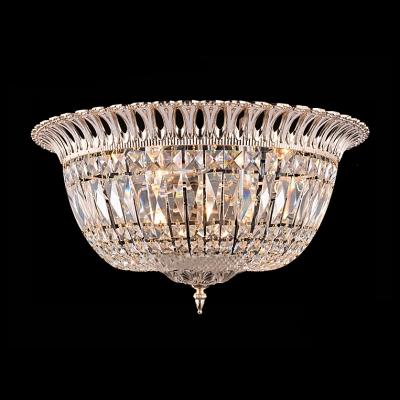 Faceted Crystal Basket Brilliant Design Flush Mount Ceiling Lights 12.6