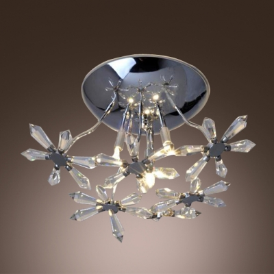 Gleaming Wall Sconce Features Chrome Finish Paired With Sparkling Flowering Crystals
