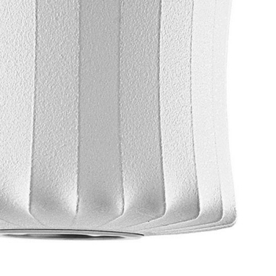Lantern Silk Pendant Lamp in White by Designer