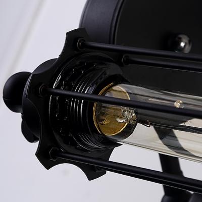 Vintage Industrial Steampunk Cube Pendant Light