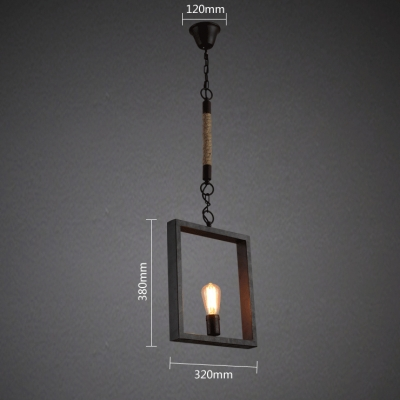 Industrial Style Small Edison Square 1 Light LED Pendant