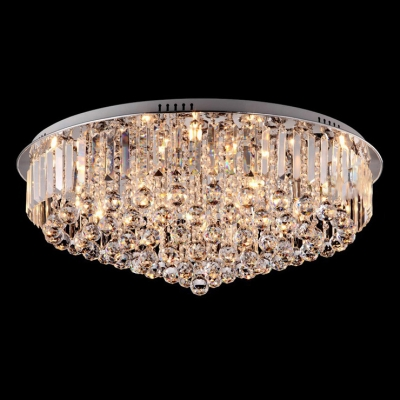 Fashion style led crystal lights beautifulhalo plentiful shimmering crystal balls hang together round flush mount in chrome finish aloadofball Gallery