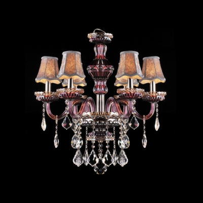 Purple crystal glass arms silver shades classic chandelier shine purple crystal glass arms silver shades classic chandelier shine with clear crystal drops aloadofball Images