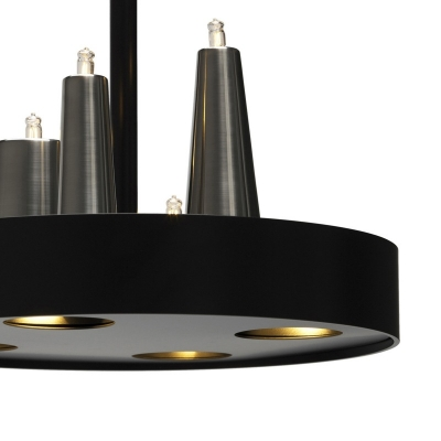 Round Base Adorable LED Designer Pendant Light Black Finished