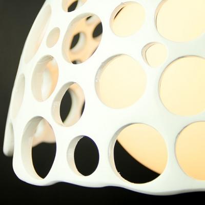 White Inner Glass Shade Resin Pendant Light