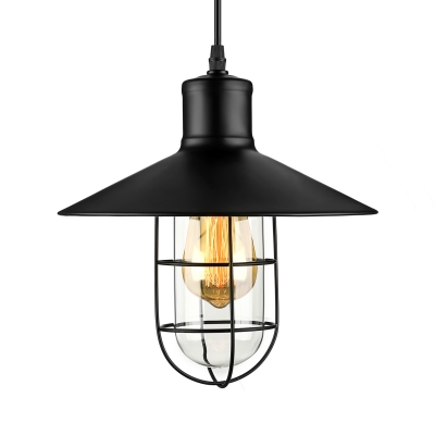 Nautical style 1 light 10 wide pendant light with metal shade aloadofball Images
