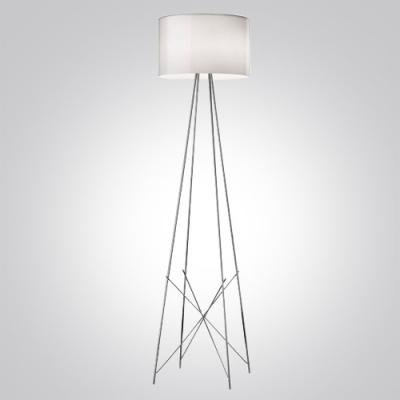 "50.4""High Drum Shade Stainless Steel Support Designer Floor Lamp"
