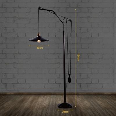 Industrial Style Oiled Rubbed Bronze Farmhouse Single-Light Floor Lamp