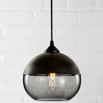 Bowl Shade Colored Industrial Black Socket Pendant Light