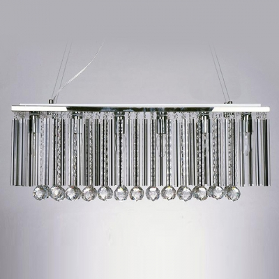 Bring Sparkle to Your Home's Interior with Clear Crystal Pendant Chandelier