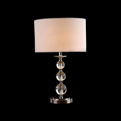 Glamorous Table Lamp Features Three Stacked Crystal Orbs